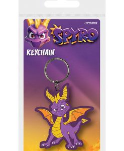 x_rk38866c Spyro the Dragon - Dragon Stance 6 cm gumi kulcstartó Spyro the Dragon Rubber Keychain Dragon Stance 6 cm
