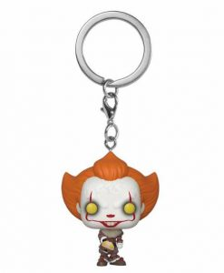 x_fk40651 Stephen King's It 2 Funko Pocket POP! kulcstartó - Pennywise w/ Beaver Hat 4 cm