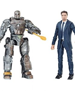 x_hase2453 Iron Man Marvel Legends Series Action Figure 2-Pack Tony Stark & Iron Man Mark I 15 cm
