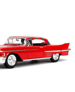 x_jada31102 Nightmare on Elm Street Diecast Model American Horror Rides - 1/24 1958 Cadillac with Figure