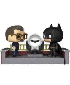 x_fk37258 Batman's 80th Funko POP! Movie Moment figura - Batman with Light Up Bat Signal 9 cm